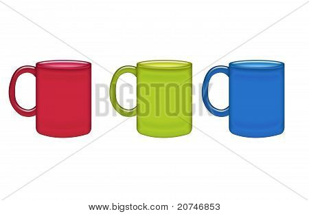 Red, Green, Blue  Mugs