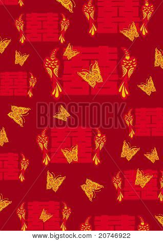 Oriental style for Chinese Wedding Stock vector