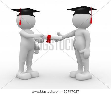 Graduate His Diploma