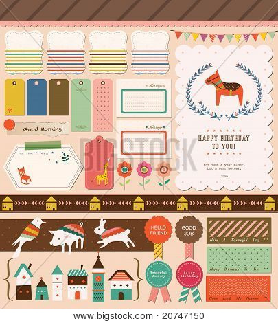 Beautiful Collection for girl, party, fun, photo, card design.