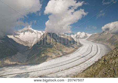 The Great Aletsch glacier (switzerland)