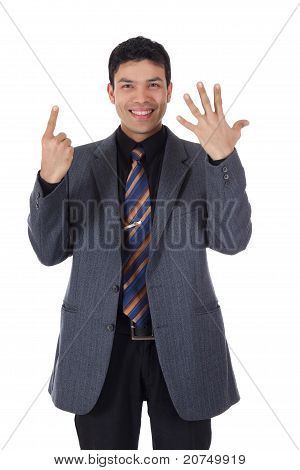 Attractive Nepalese Businessman, Fingers