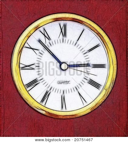 Abstract Artistic Clock Representation