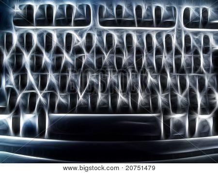 Abstract Artistic Computer Keyboard Representation