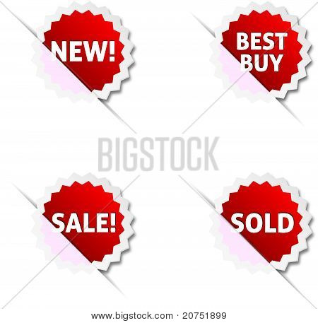 Shopping sale tags