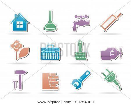 Bau und do-it-yourself-Symbole