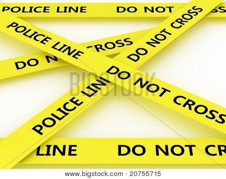 Police Line Do Not Cross. 3D