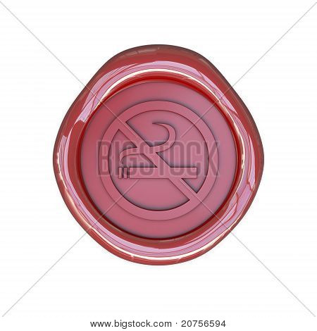 Wax seal with No smoking sign