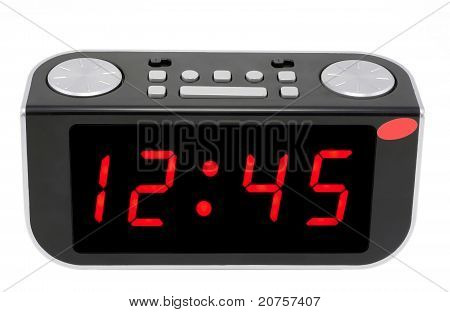 Abstract Digital Electronic Clock