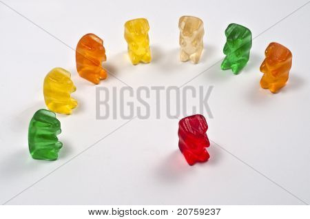 Antisocial Behavior Singled Out Red Gummy Bear