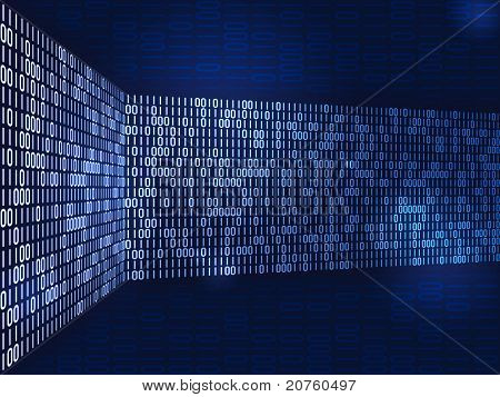 An image of a nice binary futuristic background