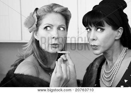 Women Smoking Up Weed