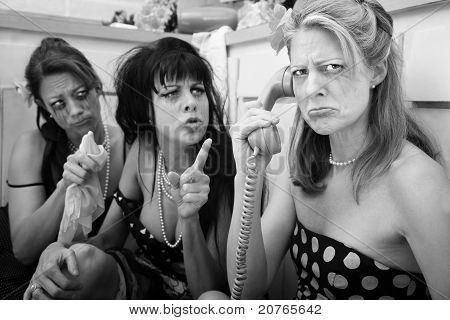 Upset Woman On Phone