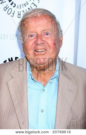 LOS ANGELES - JUN 7:  Dick Van Patten arrives at the Debbie Reynolds Hollywood Memorabilia Collection Auction & Auction Preview at Paley Center For Media on June 7, 2011 in Beverly Hills, CA