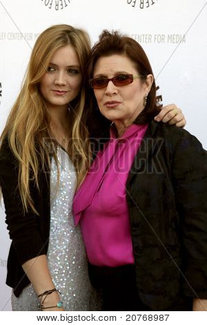 LOS ANGELES - JUN 7:  Billie Catherine Lourd (Daughter), Carrie Fisher arrive at the Debbie Reynolds Collection Auction Preview at Paley Center For Media on June 7, 2011 in Beverly Hills, CA