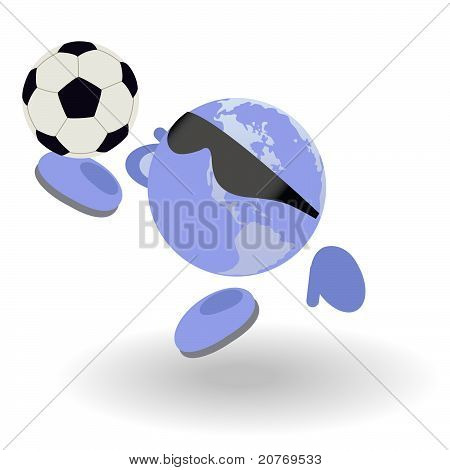 The Round Man And Football