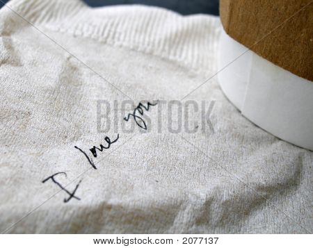Handwriting On Napkin