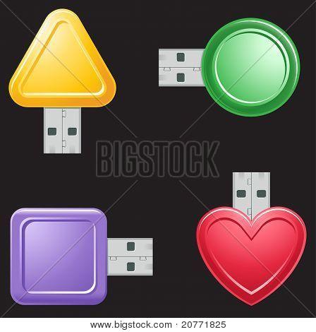 Usb Flash Drive Shapes