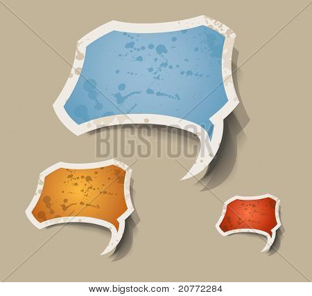 "Distressed cloud ""best choice"" retro style bubbles sticker."