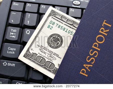 Hundred Dollar Bill And Passport