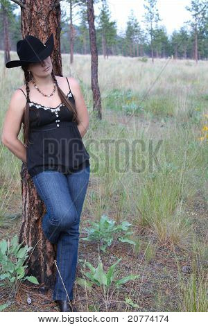 Brunette Cowgirl
