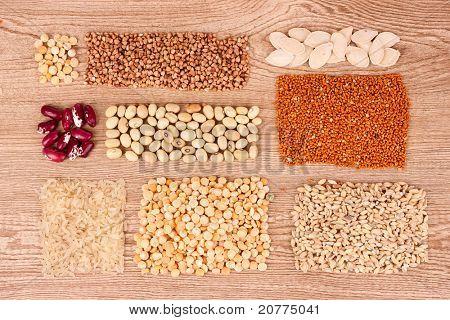 grain on brown