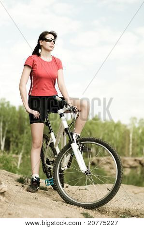Beautiful Woman Bicyclist