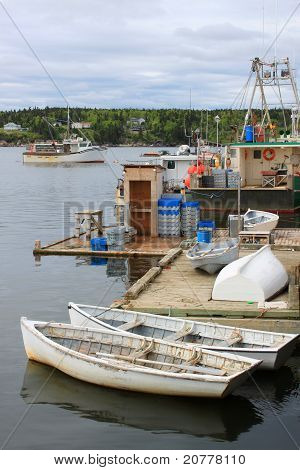 Fishing Boats In Dipper Harbour, Nb