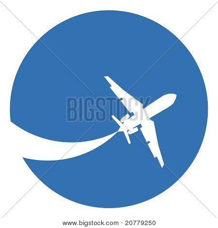 飞机剪影 库存矢量图和库存照片