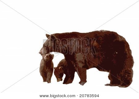 Bear Cubs Cutout