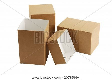 Three Simple Carton Boxes