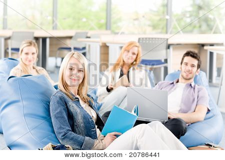 Portrait Of High-school Study Group