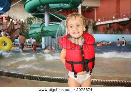 Child In Aquapark