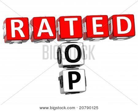 3D Top Rated Crossword