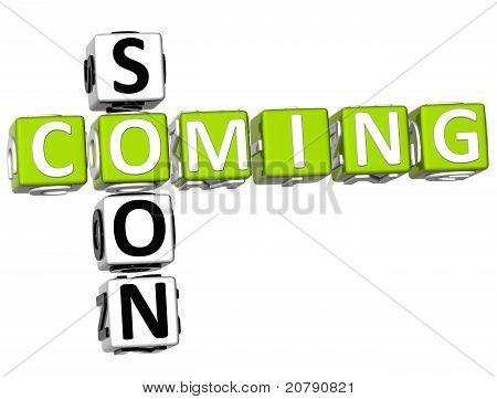 3D Cooming Soon Crossword