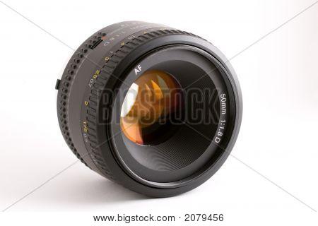 Black 50Mm Auto-Focus Prime Camera Lens