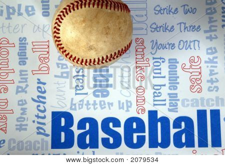 Baseball And Background