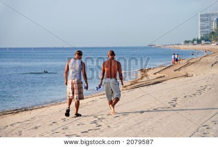 Gay Couple On Beach