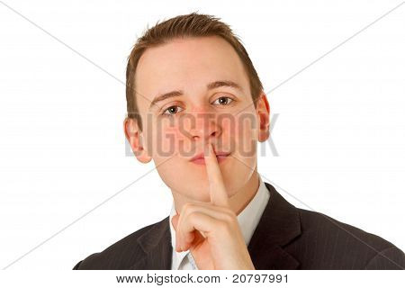 Silence Businessman