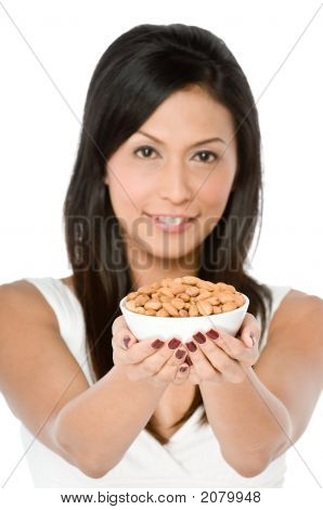 Woman With Almonds