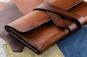 Casual Handmade Brown Leather Wallet poster