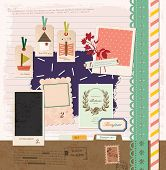 Vintage Design Elements for Scrapbook -Travel Scrapbook