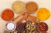 foto of garam masala  - gorgeous setting with cooking spices and herbs  - JPG