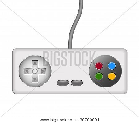 Retro controller (joystick) with cable