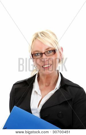 Pretty Businesswoman With Glasses