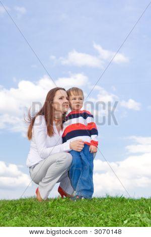 Mãe com menino