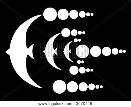 UFO círculos pássaros Design