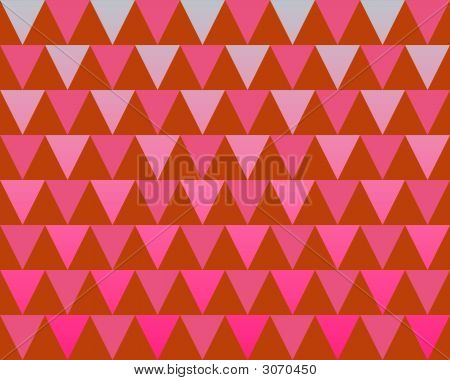 Op Art Just Triangles Gradient Red And Magenta