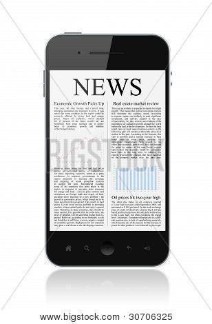 Noticias sobre teléfonos móviles aislado