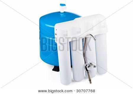 System der Filtrierung von Trinkwasser